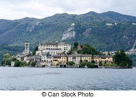 Stock Image of Island Of San Giulio.