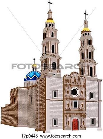 Clipart of San Juan de los Lagos 17p0445.