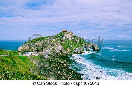Stock Photo of san juan island of gastelugatze.