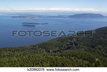 Stock Images of San Juan Islands and Twin Lakes in Washington.