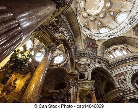 Stock Image of Church of San Lorenzo, Turin, Italy.