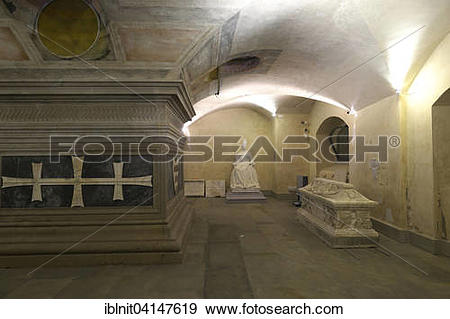 Stock Photograph of Grave of Cosimo inside the church of San.