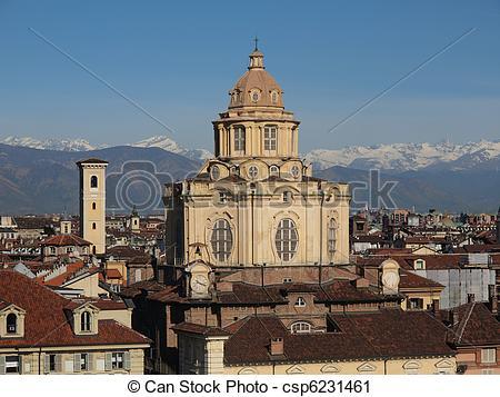 Stock Photography of San Lorenzo church, Turin.