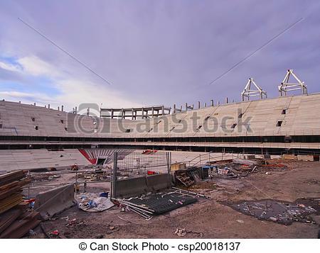 Stock Photos of New San Mames Stadium Construction in Bilbao.