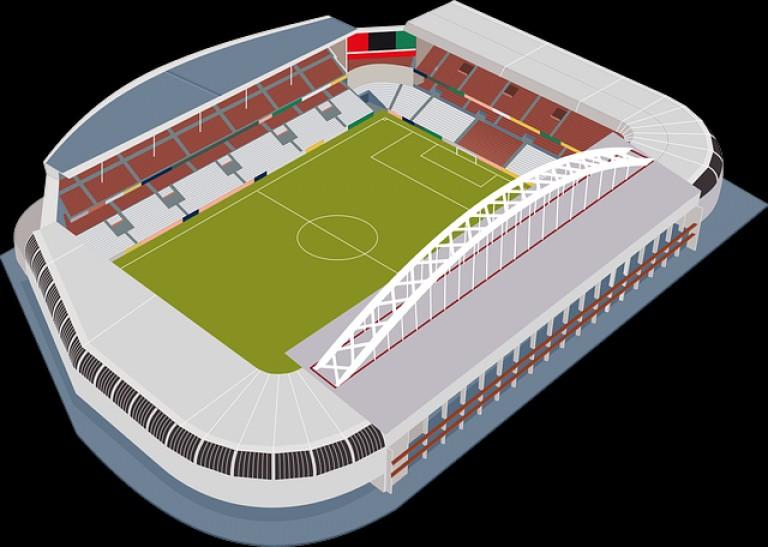 Best Football Stadium San Mames Free Vector Draw.