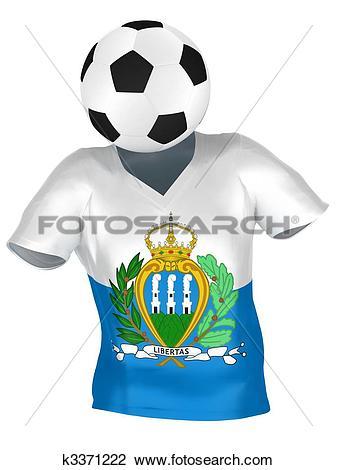 Clip Art of National Soccer Team of San Marino.