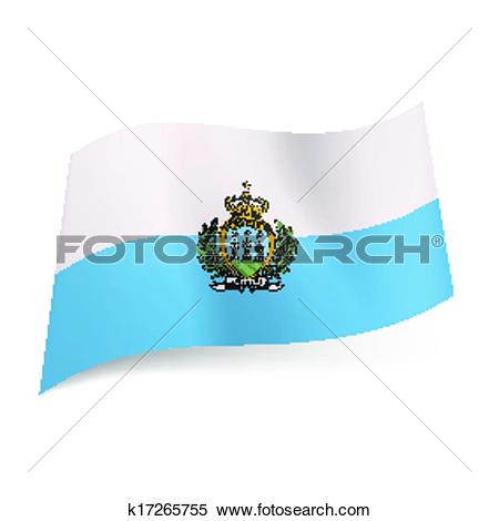 Clipart of State flag of San Marino. k17265755.