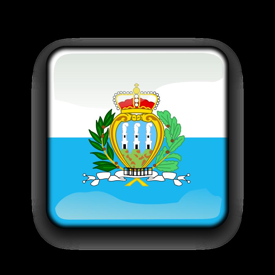 Flag of San Marino Clipart, vector clip art online, royalty free.