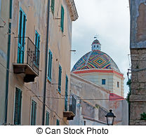 Stock Image of San Michele Arcangelo church in Potenza.