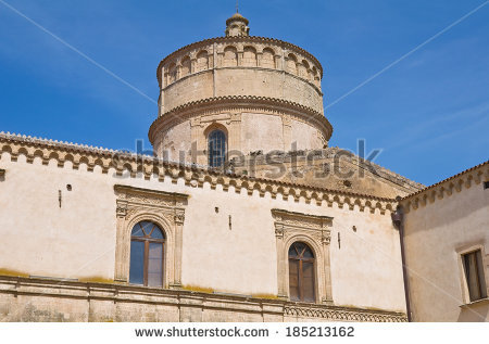 Abbey St Michele Arcangelo Montescaglioso Basilicata Stock Photo.