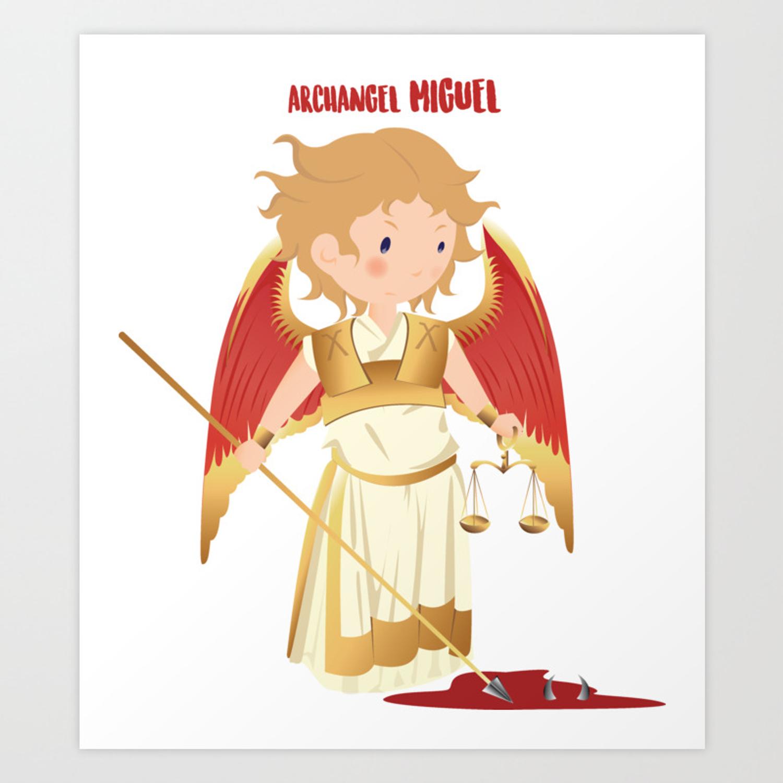 Archangel Michael. San Miguel Arcangel Art Print.