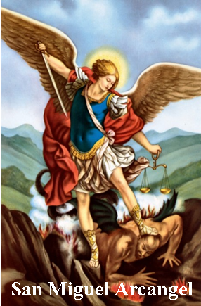 Estampa San Miguel Arcángel con Oración.