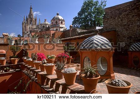 Stock Photography of San Miguel De Allende Mexico Casa Del.