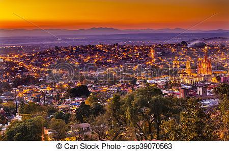 Stock Image of San Miguel de Allende Mexico Mirama.