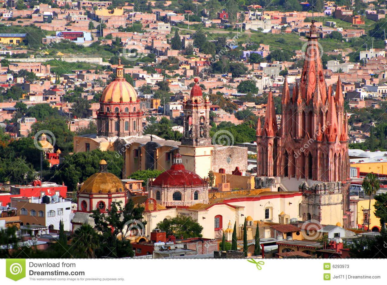 San Miguel De Allende Aerial Stock Photos.