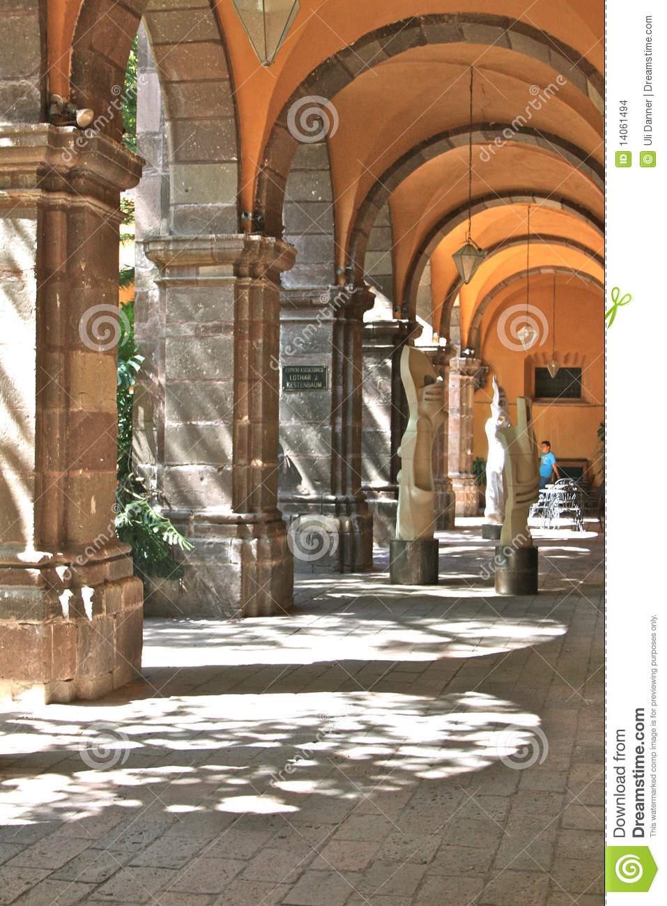 Archway Inside Bellas Artes, San Miguel De Allende Stock Images.