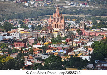 Stock Photo of Ciudad San Miguel de Allende.