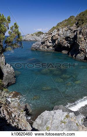 Stock Photography of San Nicola Arcella (Cosenza) Beach priest 2.