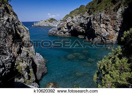Stock Photo of San Nicola Arcella (Cosenza) Beach priest 3.