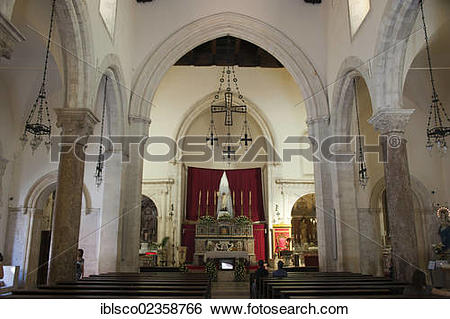 "Stock Images of ""Interior view, Duomo, San Nicolo cathedral."