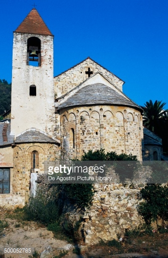 Apse And Bell Tower Of The Church Of San Paragorio 12th Century.