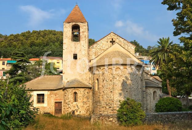 Chiesa San Paragorio, Noli, Italy.
