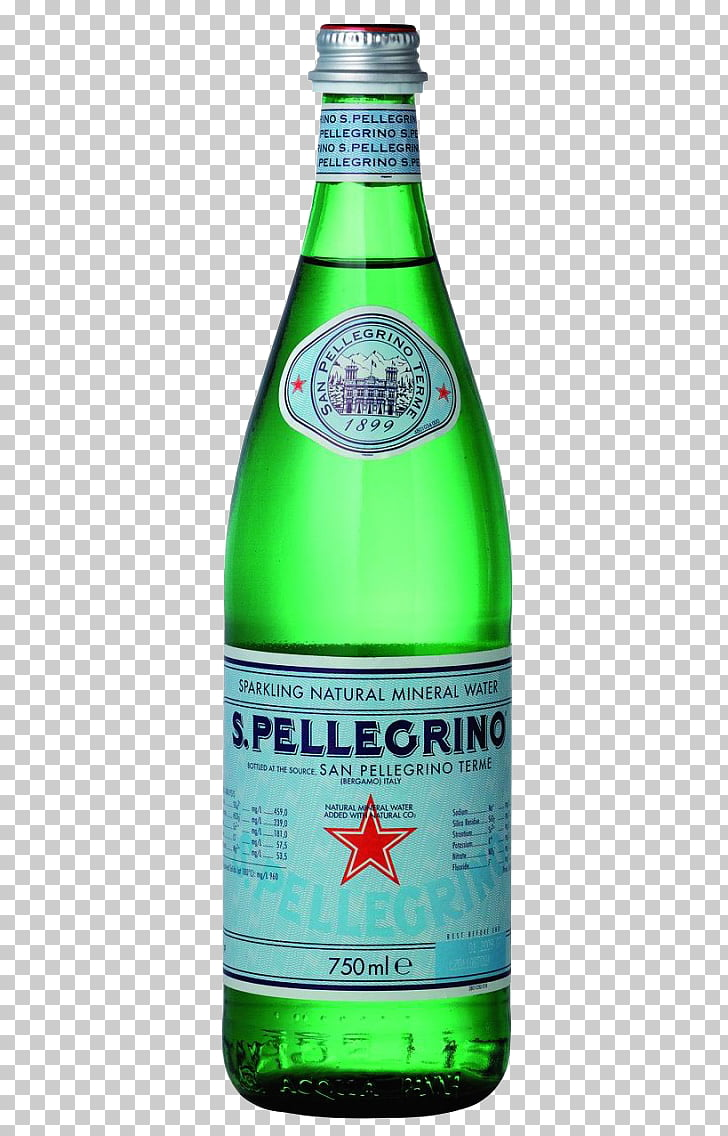 Carbonated water Fizzy Drinks S.Pellegrino Mineral water.