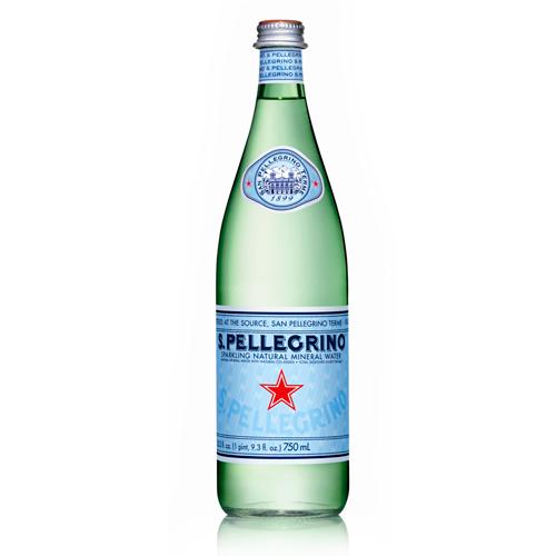 San Pellegrino, Sparkling Mineral Water, Glass Bottle.