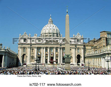 Picture of Piazza San Pietro, Rome, Italy is702.