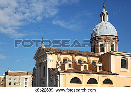 Stock Photograph of San Rocco Church Rome k8522689.