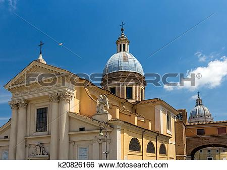 Stock Images of Church San Rocco in Rome, Italy k20826166.