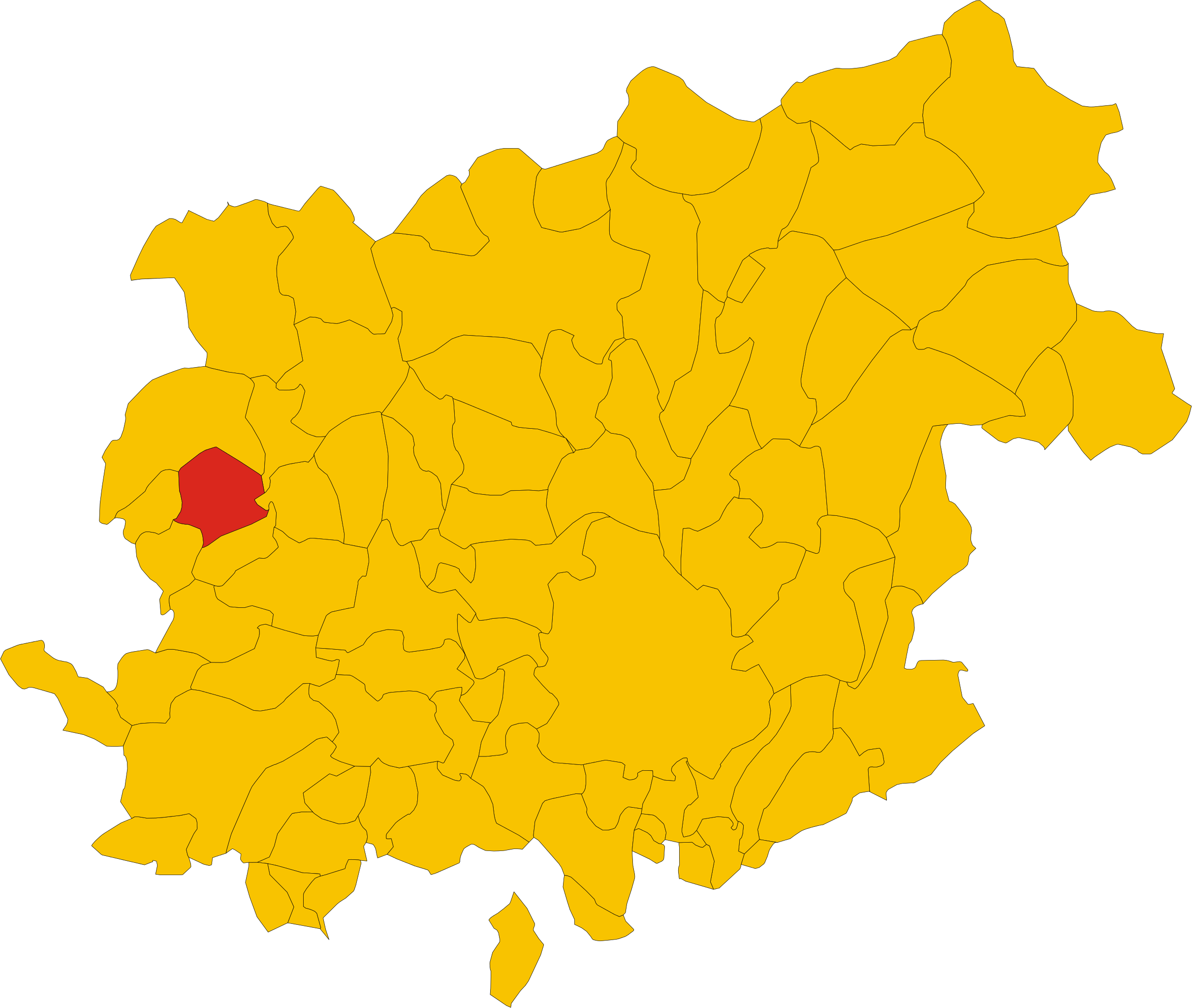 File:Map of comune of San Salvatore Telesino (province of.