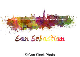 San sebastian skyline Illustrations and Stock Art. 7 San sebastian.