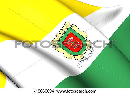 Drawings of Flag of San Sebastian de Mariquita, Colombia.
