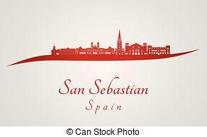 San sebastian skyline Illustrations and Stock Art. 7 San sebastian.