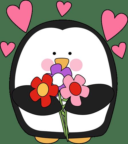 Clipart de animalitos para Día de San Valentín.