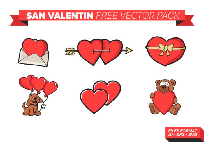 San Valentin Free Vector Pack.