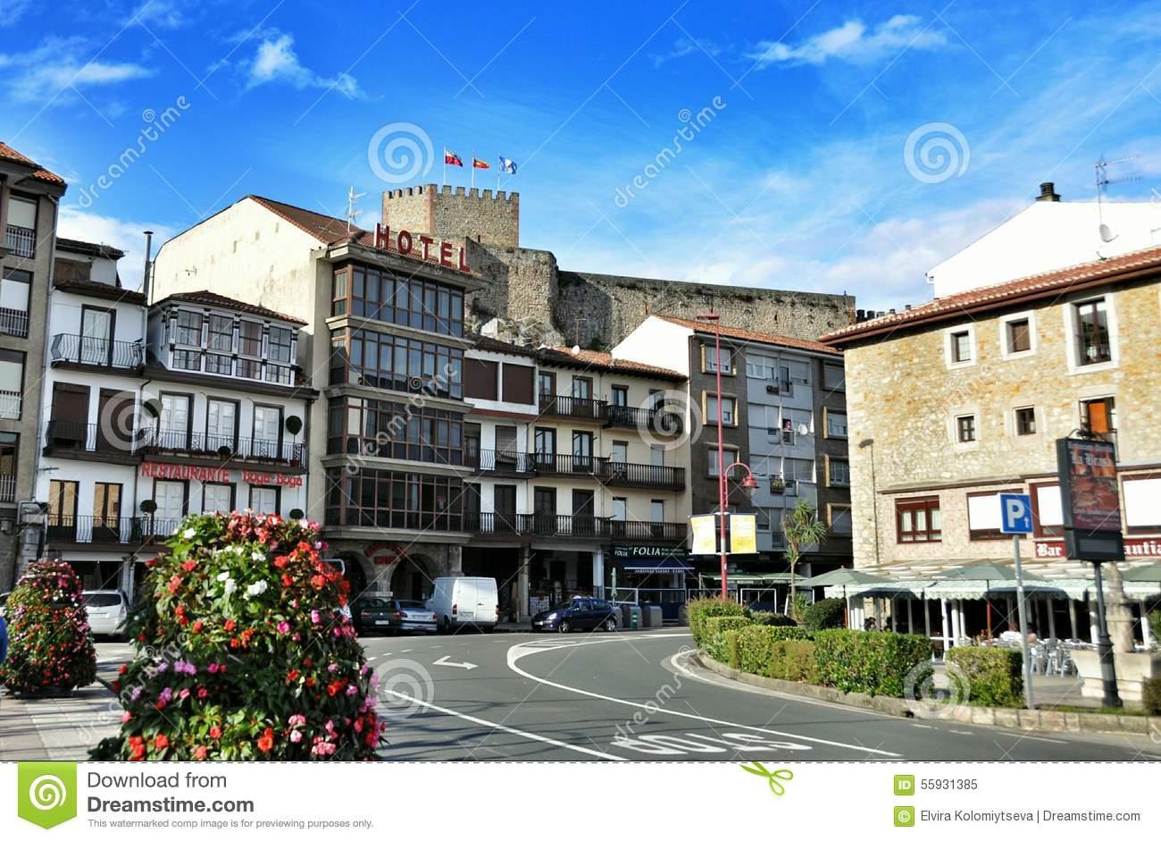 Streets Of San Vicente De La Barquera Editorial Image.