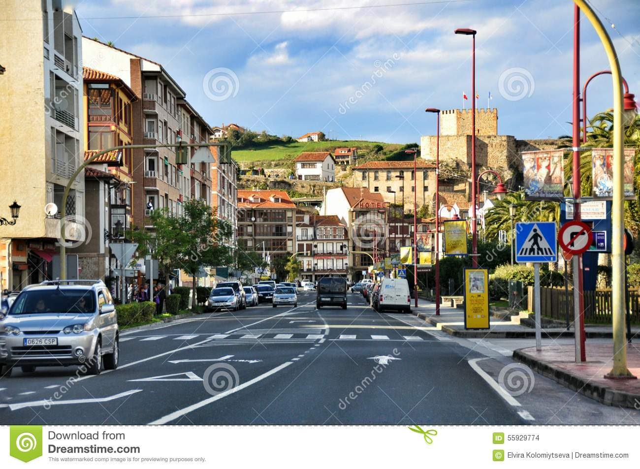 Streets Of San Vicente De La Barquera Editorial Stock Image.