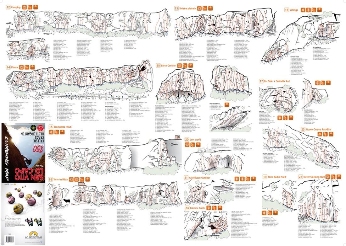 Versante Sud San Vito Lo Capo climbing guidebook.