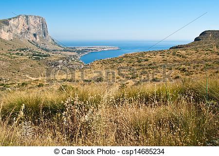 Stock Photos of San Vito Lo Capo gulf In Sicily.
