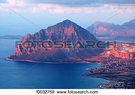 Stock Photograph of Italy, Sicily, Trapani, San Vito Lo Capo bay.