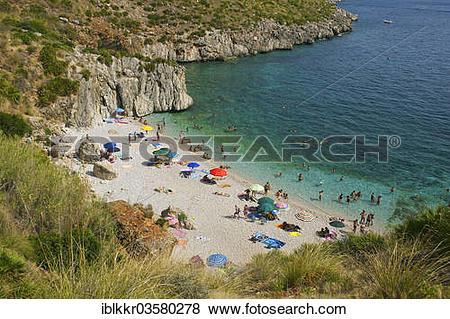 "Pictures of ""Beach cove, Naturreservat Zingaro, San Vito lo Capo."