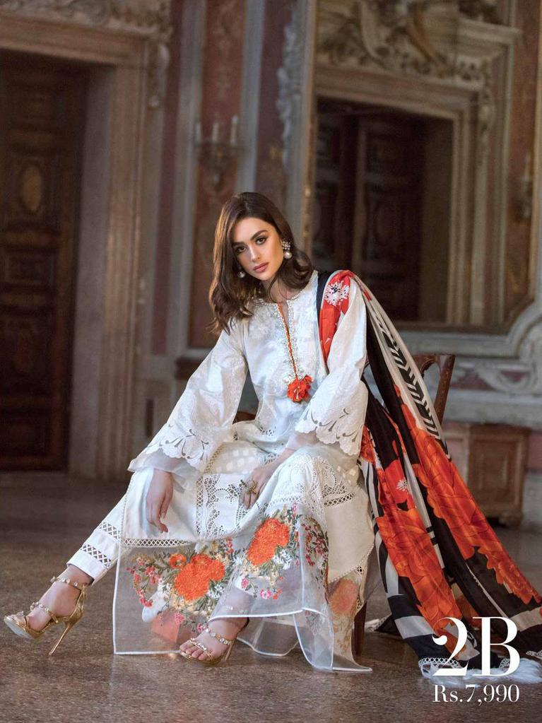 Sana Safinaz Luxury Lawn Summer 2019 Unstitched 3PC Suit SS.