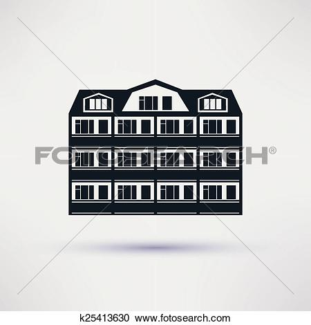 Clipart of Sanatorium. The building is an icon flat. k25413630.