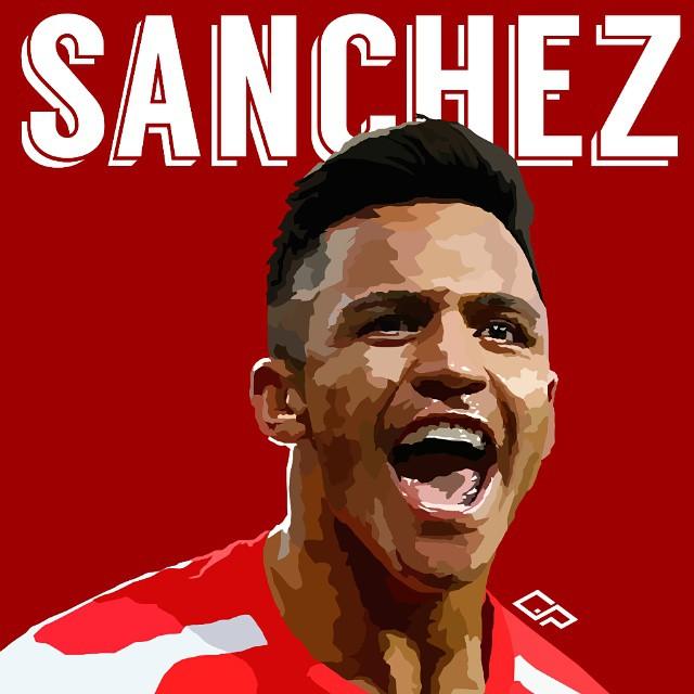 Alexis sanchez clipart.