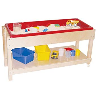 Wood Designs WD11810 Sand and Water Table with Top/Shelf.