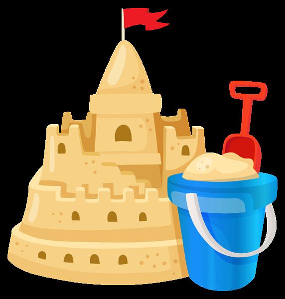 Sand castle clipart #8