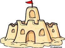 Clip Art Sand Castle.