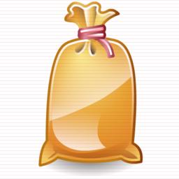 Sophistique construction sandbag icon.